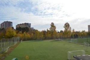 Футбольное поле с искусственным покрытием 70 на 40 метров
