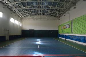 Спортивный зал для занятий художественной гимнастикой и футболом (4 раздевалки)