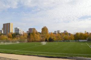Футбольное поле с искусственным покрытием 94 на 64 метра Радий